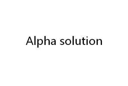 Alpha solution trademark